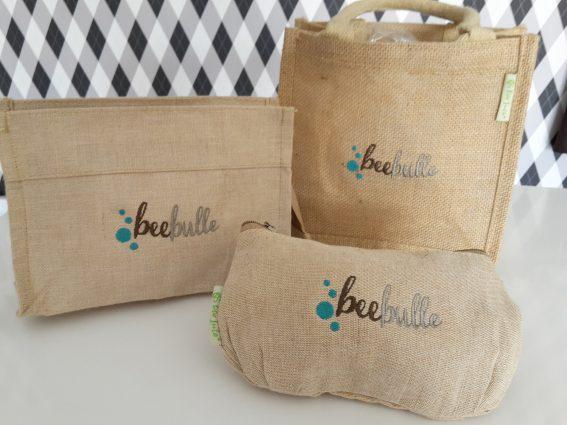 Broderies sur sacs pour une entreprise